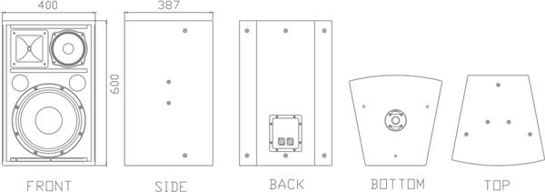 三分频音箱设计图纸展示