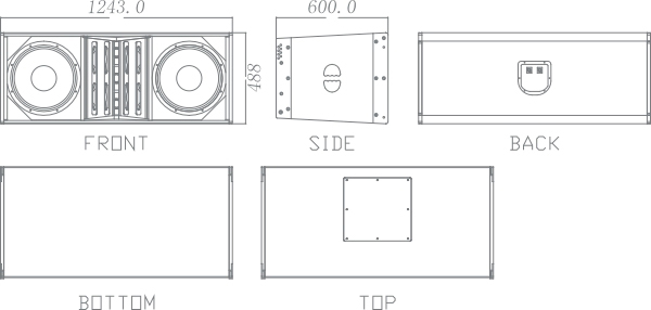 立式音箱箱体结构图